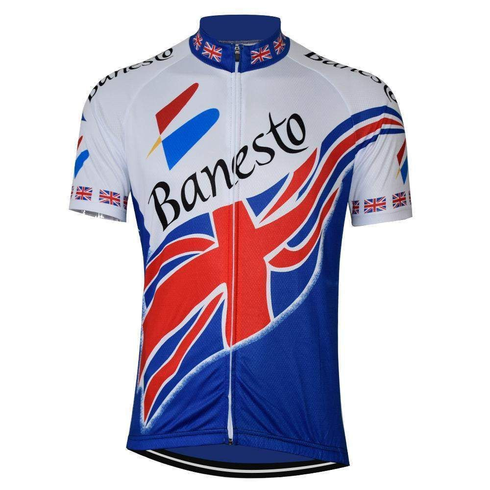 Retro United Kingdom Banesto Cycling Jersey Cycling Outfit