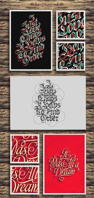 weandthecolor:  Type Treatments by Fabian De Lange More of the...