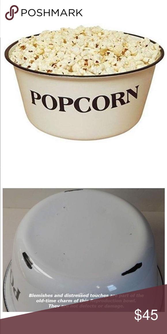 Small Popcorn Bowls Set of 4 Enamelware
