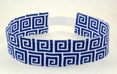 Scrolls Cloth Headband - Blue