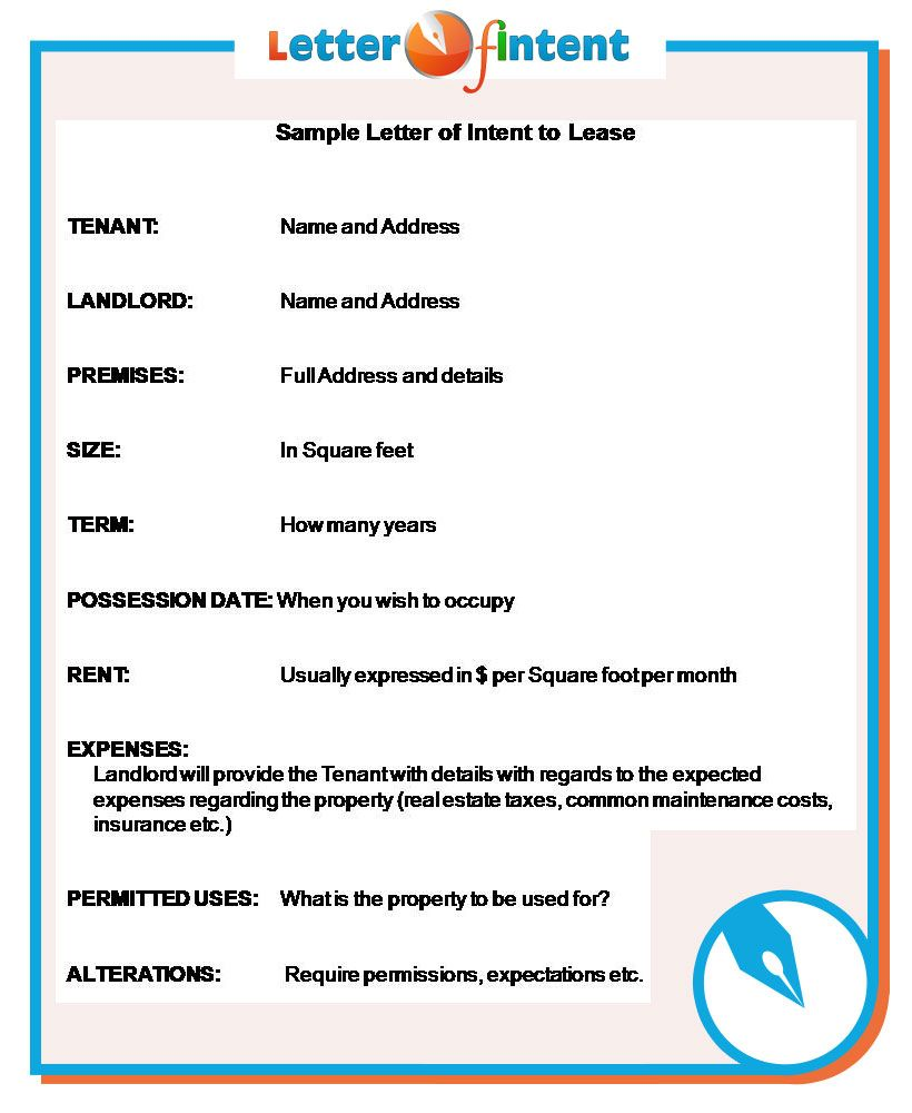 Sample Letter Of Intent Http://www.letter Of Intent.  Loi Sample Letter