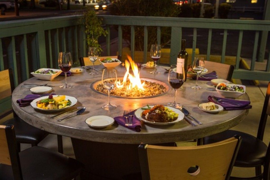 Gas Fire Pit Dining Table Outdoor Fire Pit Table Fire Pit