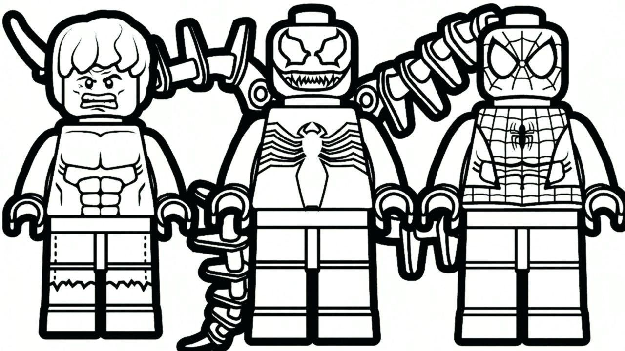 Lego Spiderman Coloring Pages Awesome Printable Lego