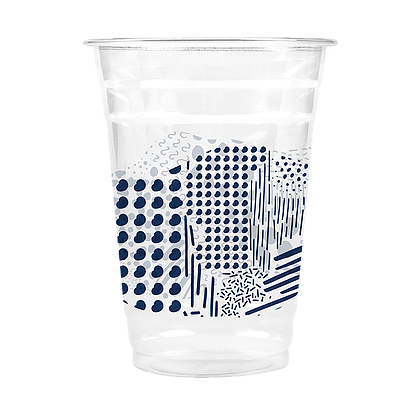16 Oz Beverage Plastic Clear Cup Navy Doodle Cheeky Home Plastic Cups Design Plastic Cup Coffee Cup Design