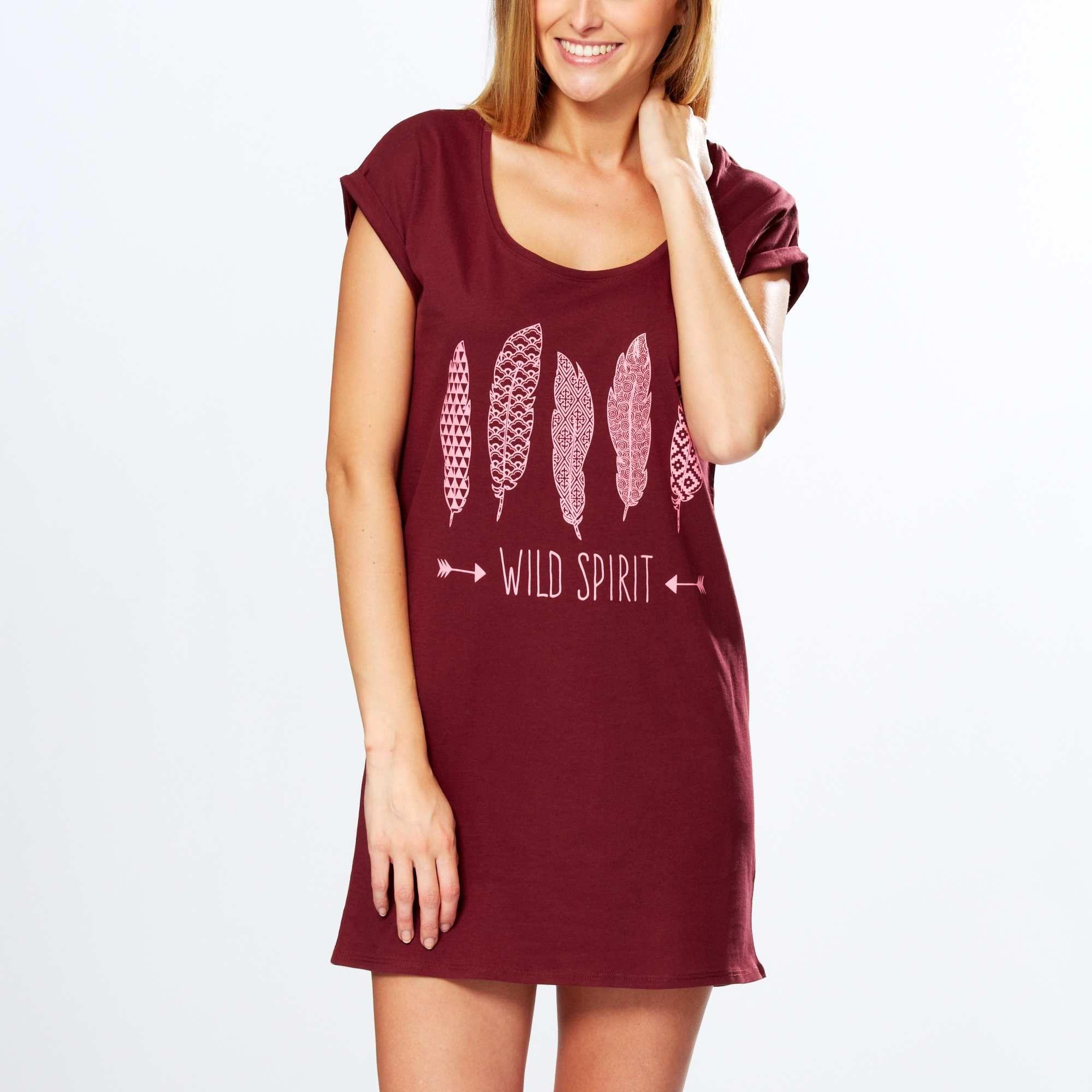 Maxi Tee Shirt De Nuit Imprime Femme Du 34 Au 52 Kiabi 5 00