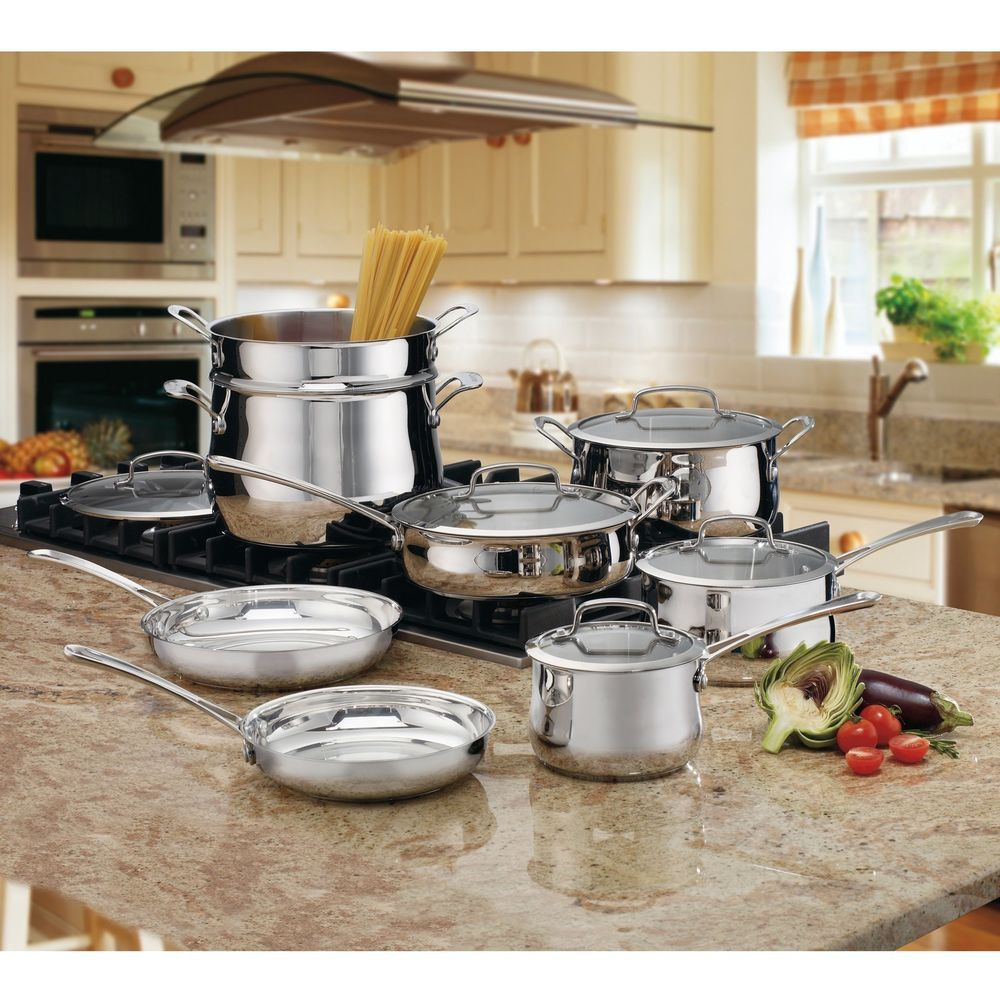13 pc Stainless Cookware Set Home Kitchen Dining Food Chef #Cuisinart