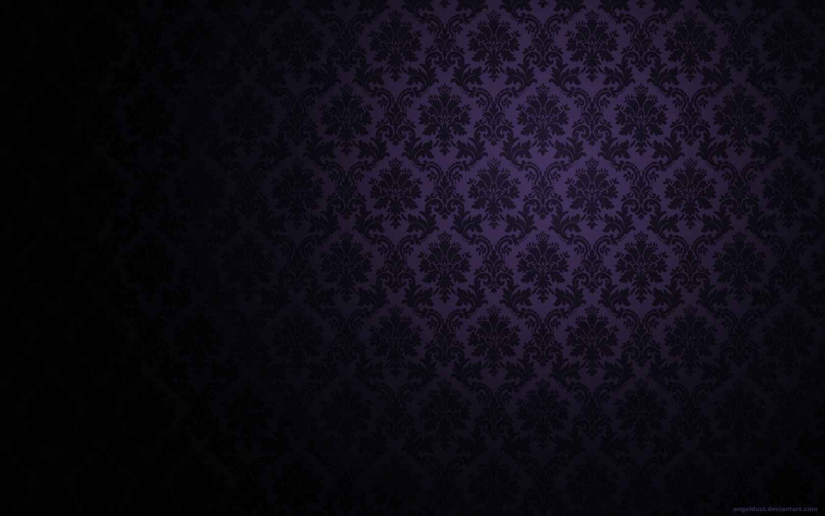 rococco wallpaper in purple The Gothic Mansion