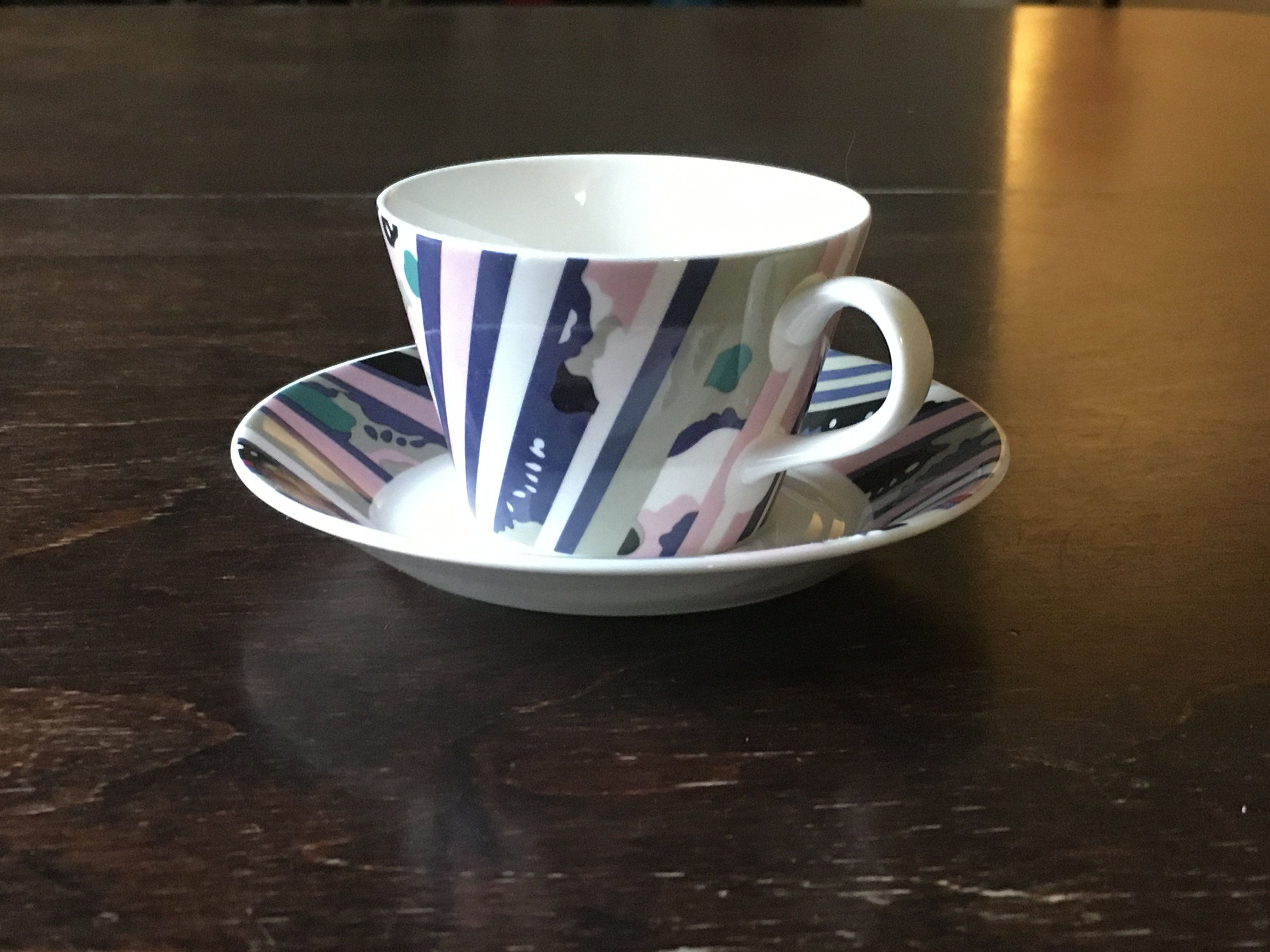 Vintage Katrin Stig Lindberg Gustavsberg coffee cup and saucer // 1980s // Maximalism in 2020