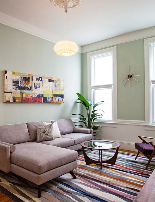 mission district makeover. | Living rooms | Rugs in living ...