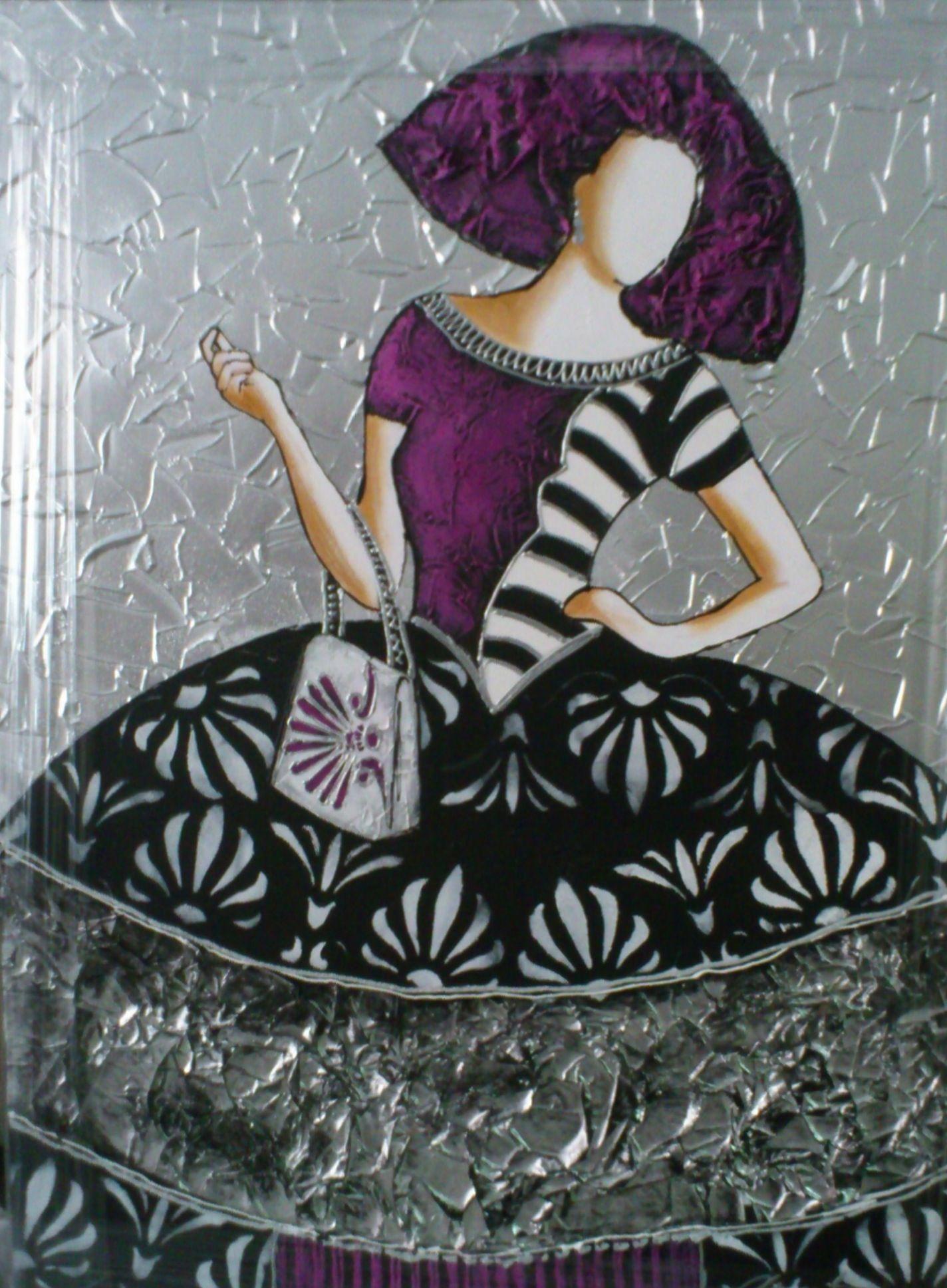 Menina cuadro canvas acr lica art painting las - Cuadros de meninas modernos ...