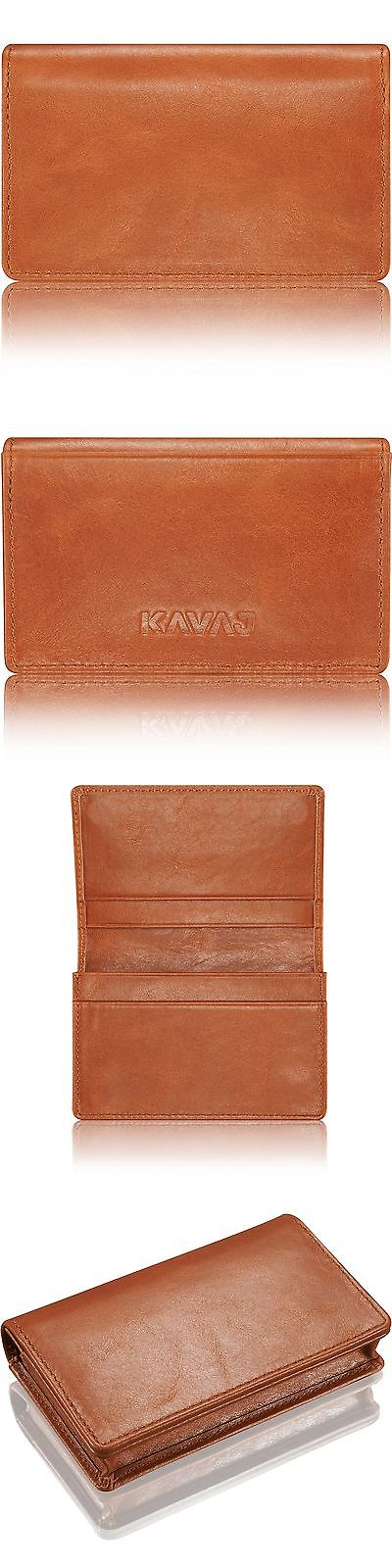 Business and Credit Card Cases 105860: Cognac Brown Leather ...