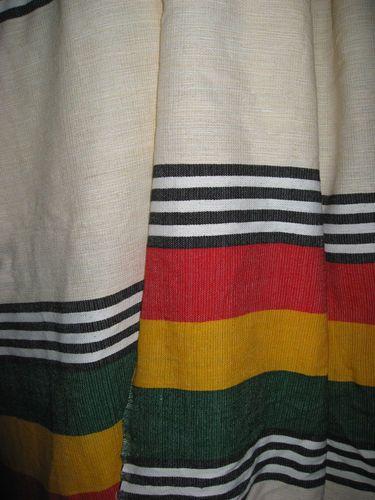 Handwoven Ethiopian Curtain with Rasta Colors : Ethiopia African Decor Reggae
