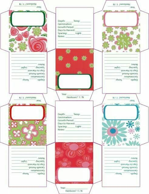 photograph relating to Free Printable Seed Packets named Printable seed envelopes Propagating vegetation and bouquets