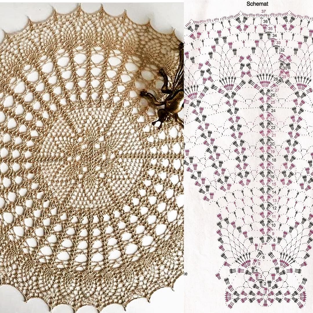 Diagram Pattern Crochet Doily Patterns Doilies Free Find This Pin And More On