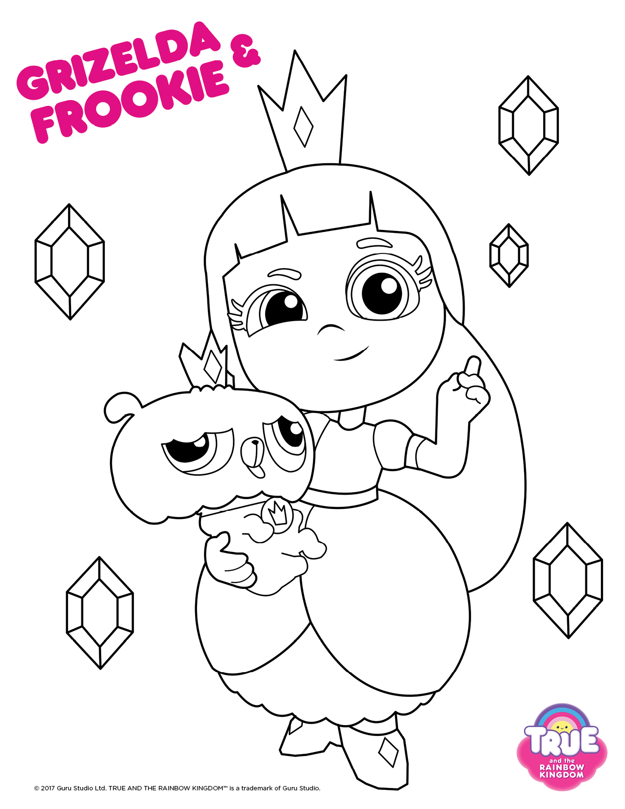 Grizelda And Frookie From True And The Rainbow King Coloring Pages Toy Story Coloring Pages Birthday Coloring Pages Space Coloring Pages