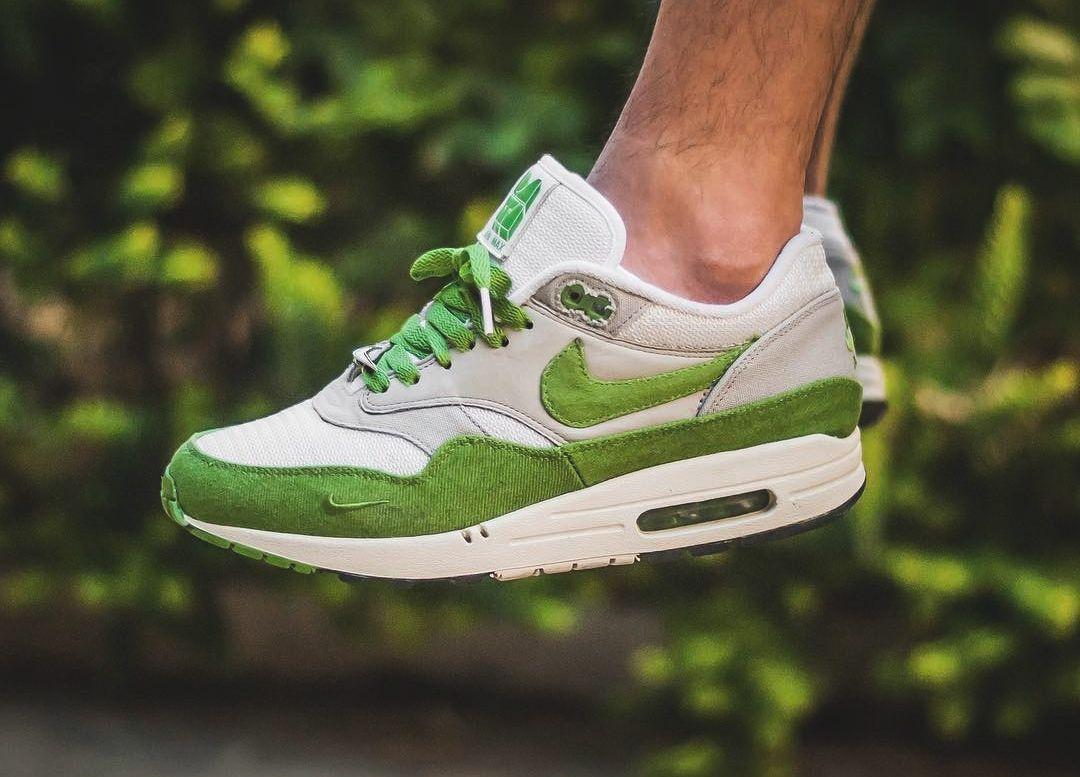patta x nike air max 1 spring green