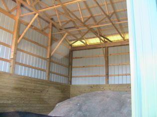 Interior Of Pole Barn