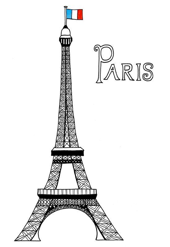 paper city paris free downlaod made by joel - Paris Eiffel Tower Coloring Pages
