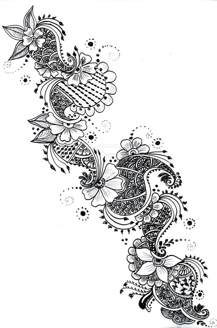 Mehndi Patterns On Paper Henna Designs Henna Drawings Henna