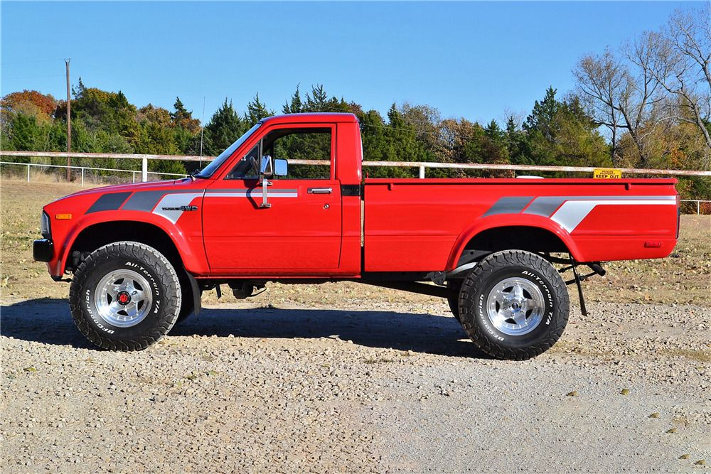 1982 Toyota Truck >> 1982 Toyota 4x4 Pickup Side Profile 225888