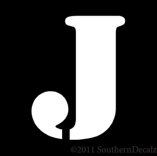 Army Military Font Initial Letter J  Decal Sticker   Colors