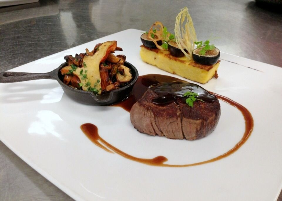 Seared Filet Mignon With Pinot Sauce Cassoulette Of