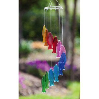 Rainbow Fish Wind Chimes Wind Chimes Glass Wind Chimes Glass Windchimes