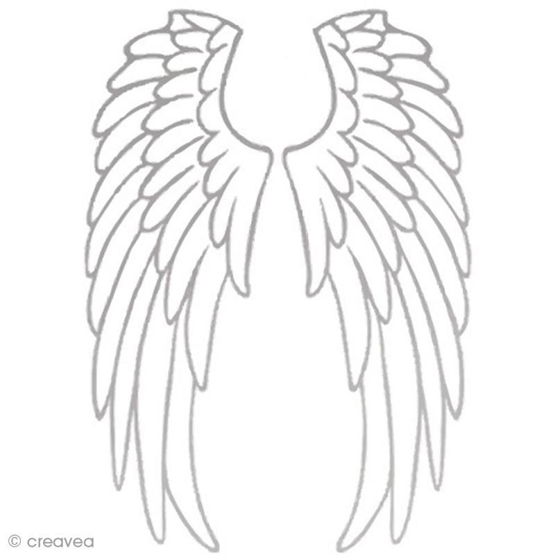 Transfert textil Termoadhesivo A4 alas de ángel plateadas ...