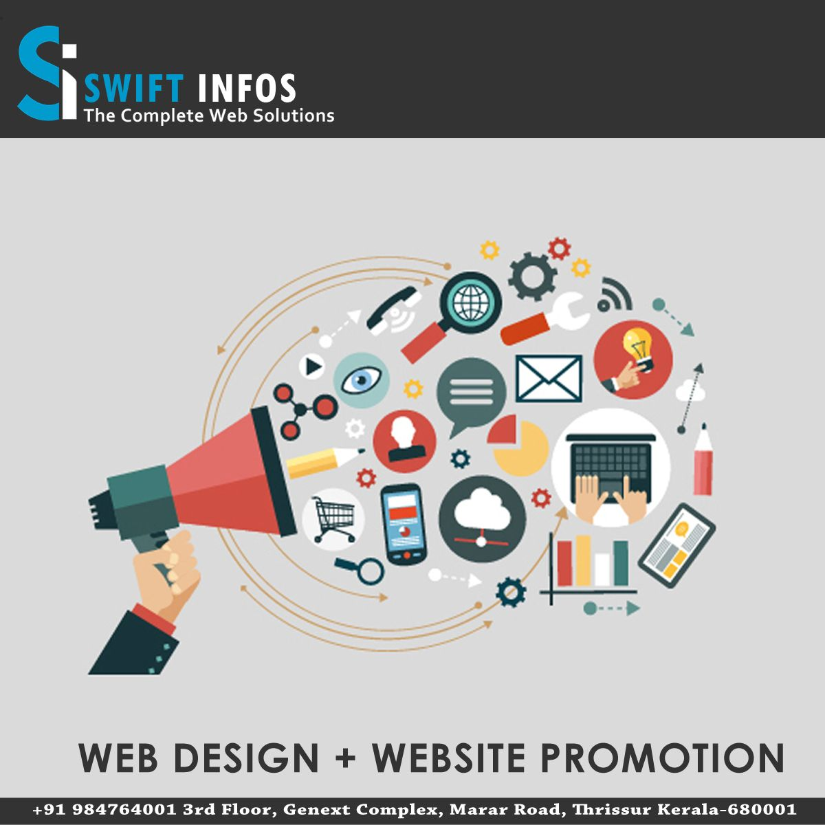 We Often Talk About The Power Of Website Promotion Through Seo And Smo But Swift Infos Simply Web Design Website Development Company Web Development Design