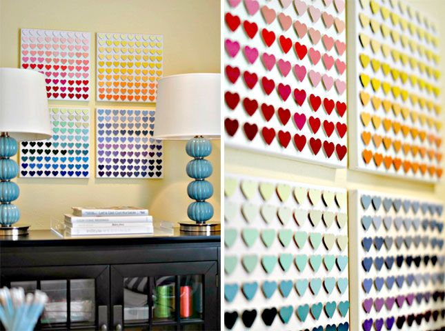 28 Super Fun Things To Make With Paint Chips Paint Chip Wall