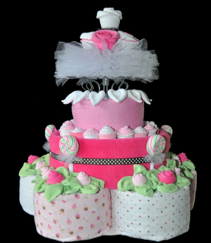 Diaper Cake Instructions Video Basic 2 Or 3 Layers Diapers Cake