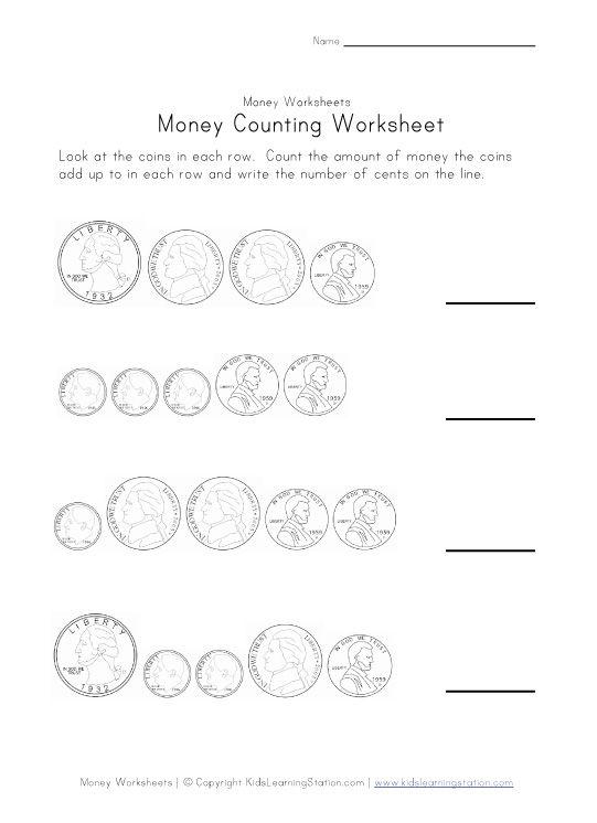 counting money worksheet   Activities   Pinterest   Money ...