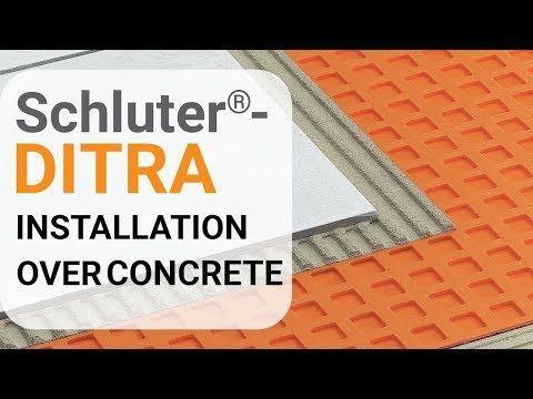 Schluter Ditra Ditra Xl Uncoupling Ditra Membranes Schluter Com Installation Membrane Concrete