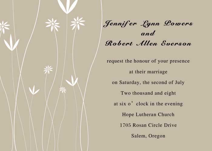 Budding Blossoms Wedding Invitation #exclusivelyweddings - best of wedding invitation samples text