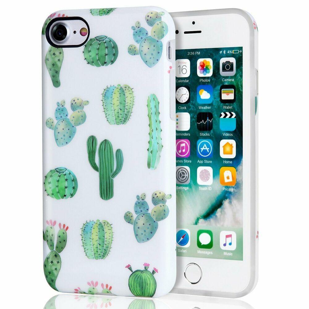 Cactus iphone 7 case iphone 8 case white green best