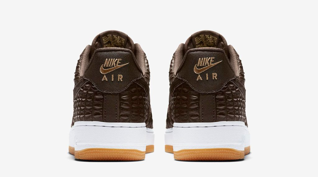 uk black croc and gum bottoms dominate this nike air force 1