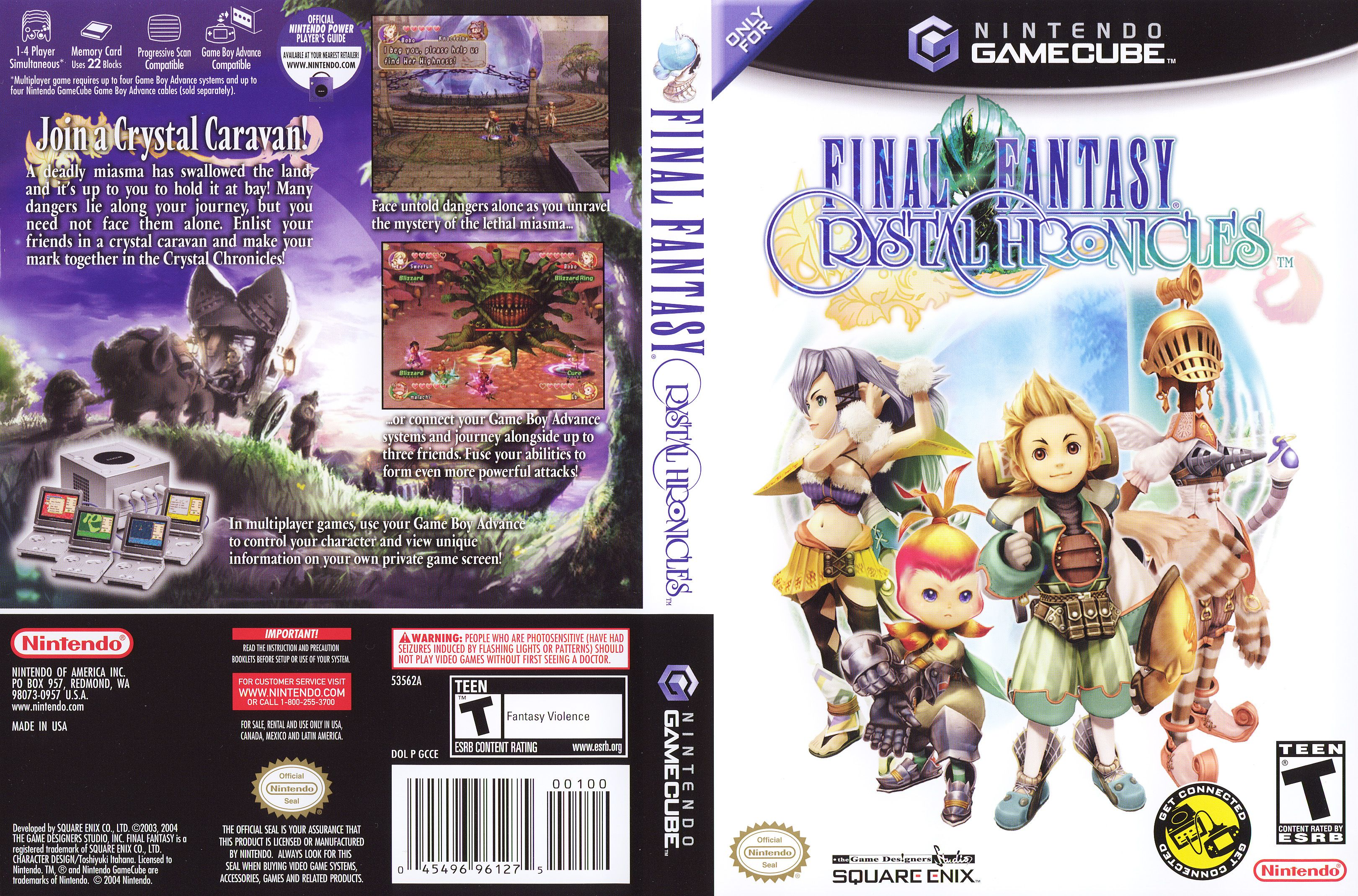 Game Cube Games Final Fantasy Crystal Chronicles Cube Games
