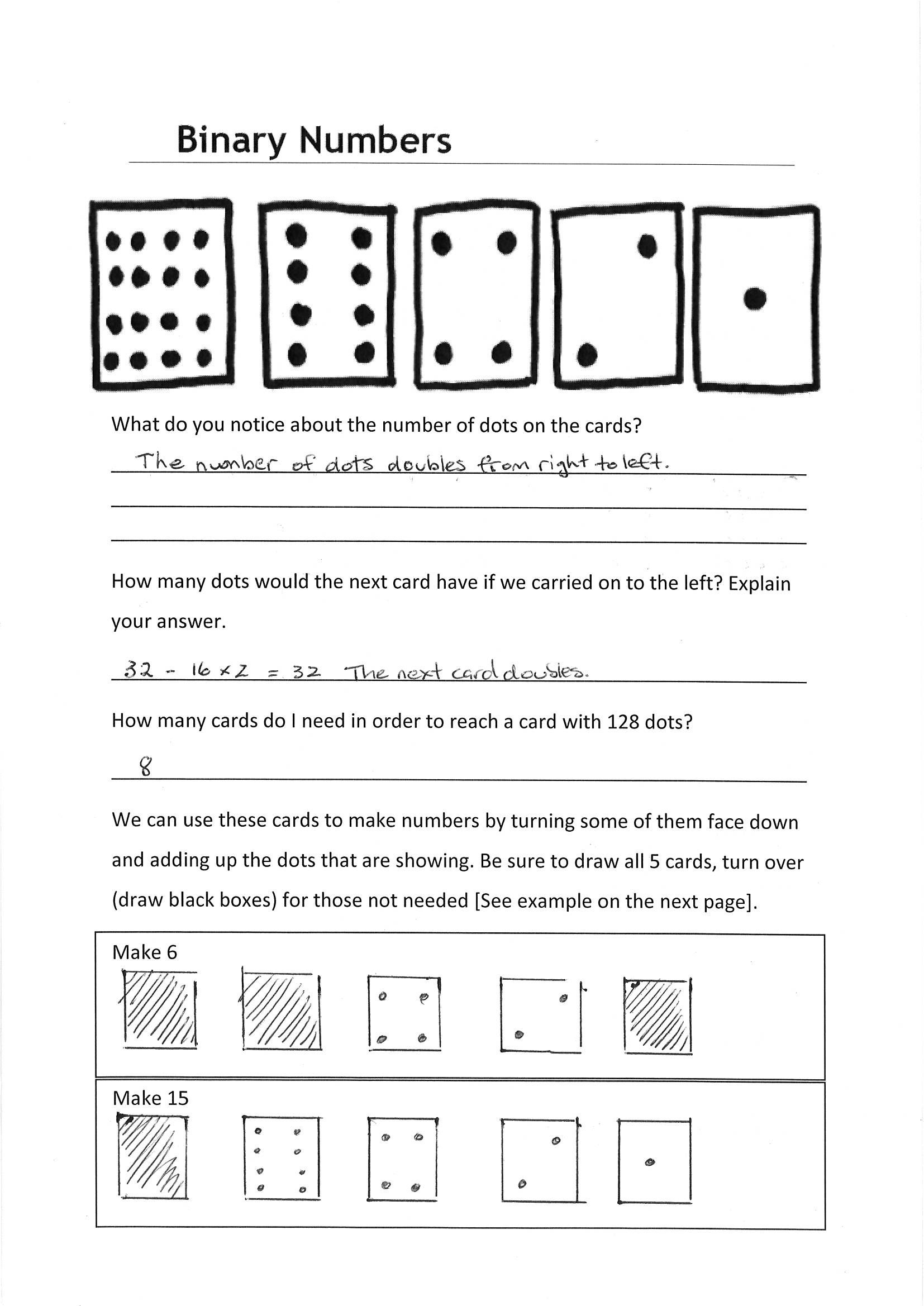 Worksheet: Whole numbers - ABOVE | The Australian Curriculum BINARy ...