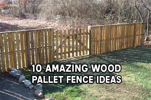 10 amazing wood pallet fence ideas diy pinterest for Diy pallet fence gate