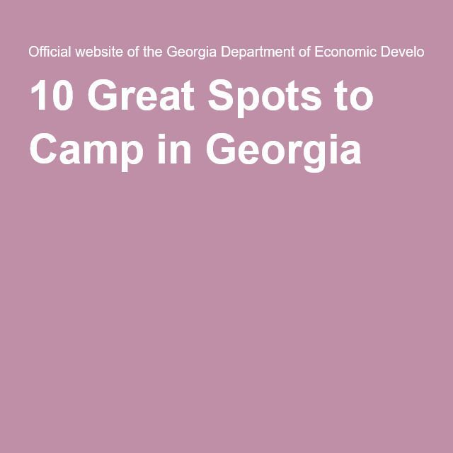 10 Great Spots to Camp in Georgia