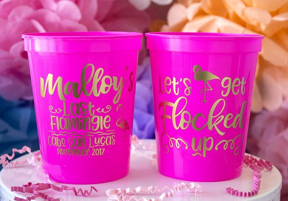 Bachelorette Favor Custom Plastic Party Cups Beach Bachelorette Weekend Stadium Cups Personalized Cups Wine Cups Bachelorette Gifts