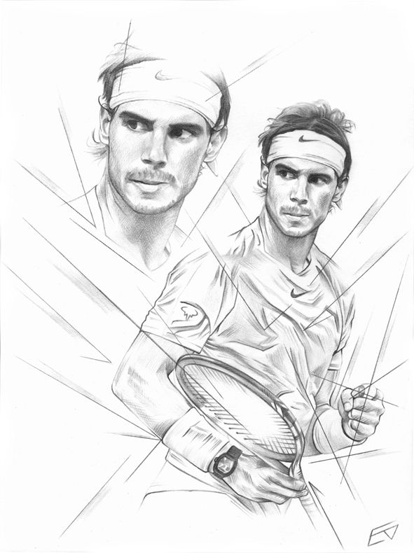 Rafael Nadal By Emmy Alvy On Deviantart Sketches Drawing Sketches Art