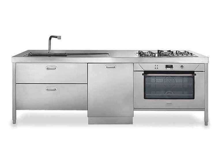 Cucine componibili in acciaio 2016 - Cucina in acciaio Alpes Inox ...