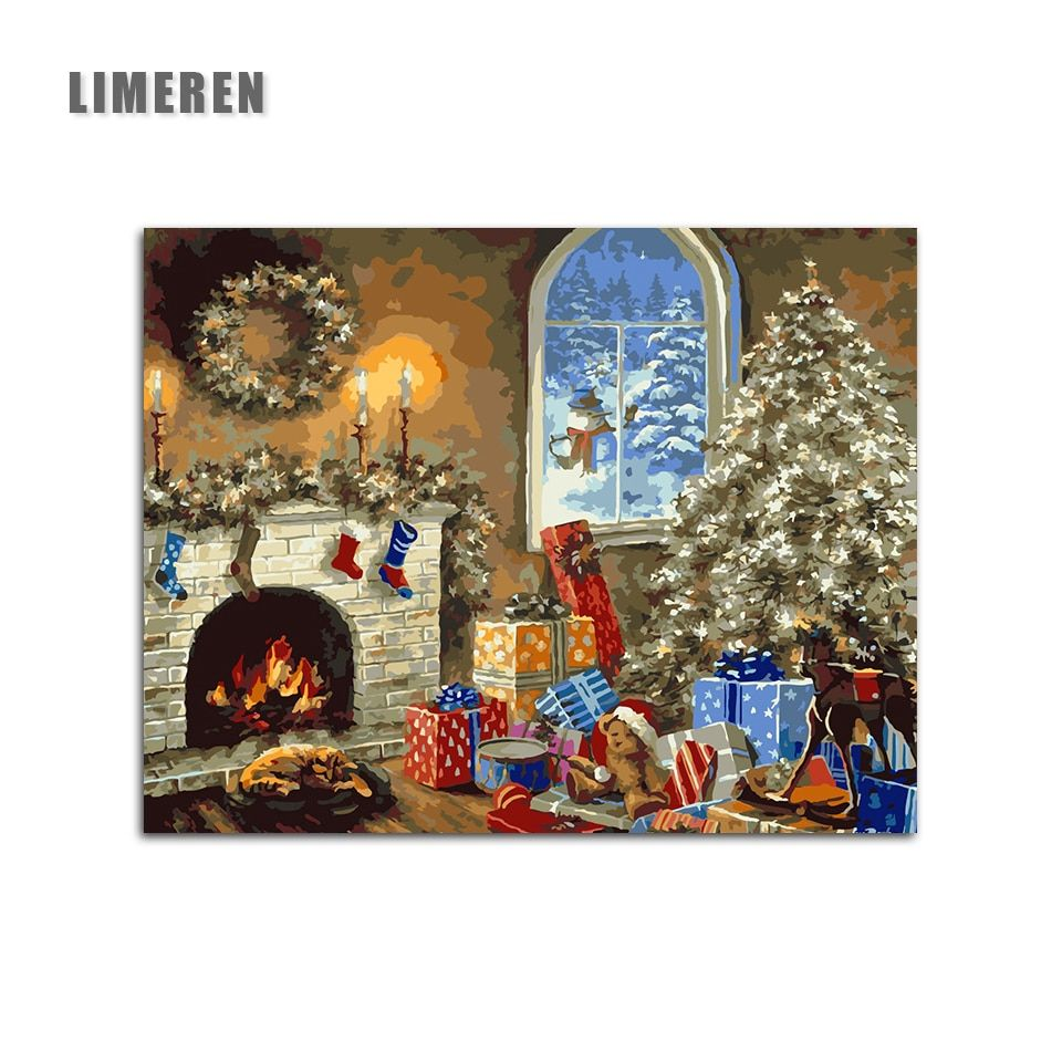 Christmas DIY Painting By Numbers Kits Drawing Painting By ...