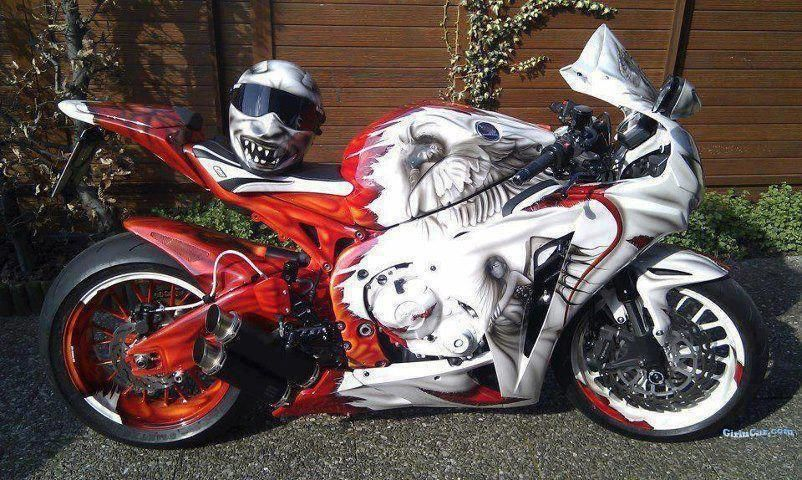 Cbr With Awesome Paint Job I Want That Sports Bikes