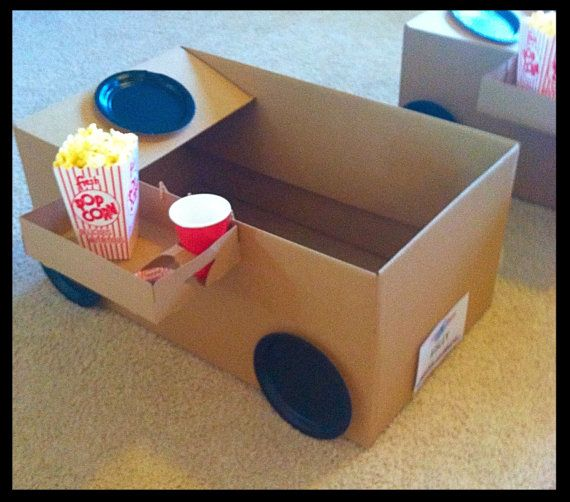 Photo of Items similar to Drive -in-movie Kit, movie night, movie night party,box cars, snack trays, popcorn boxes on Etsy