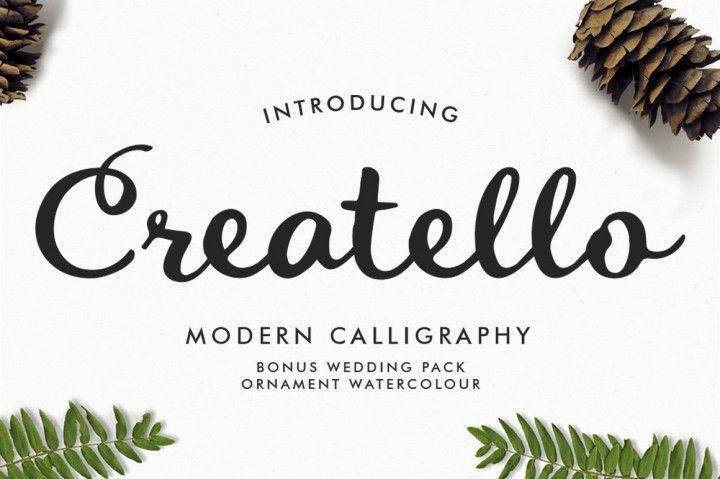 Download Bonus Wedding Pack and Ornament Watercolor | Script fonts ...