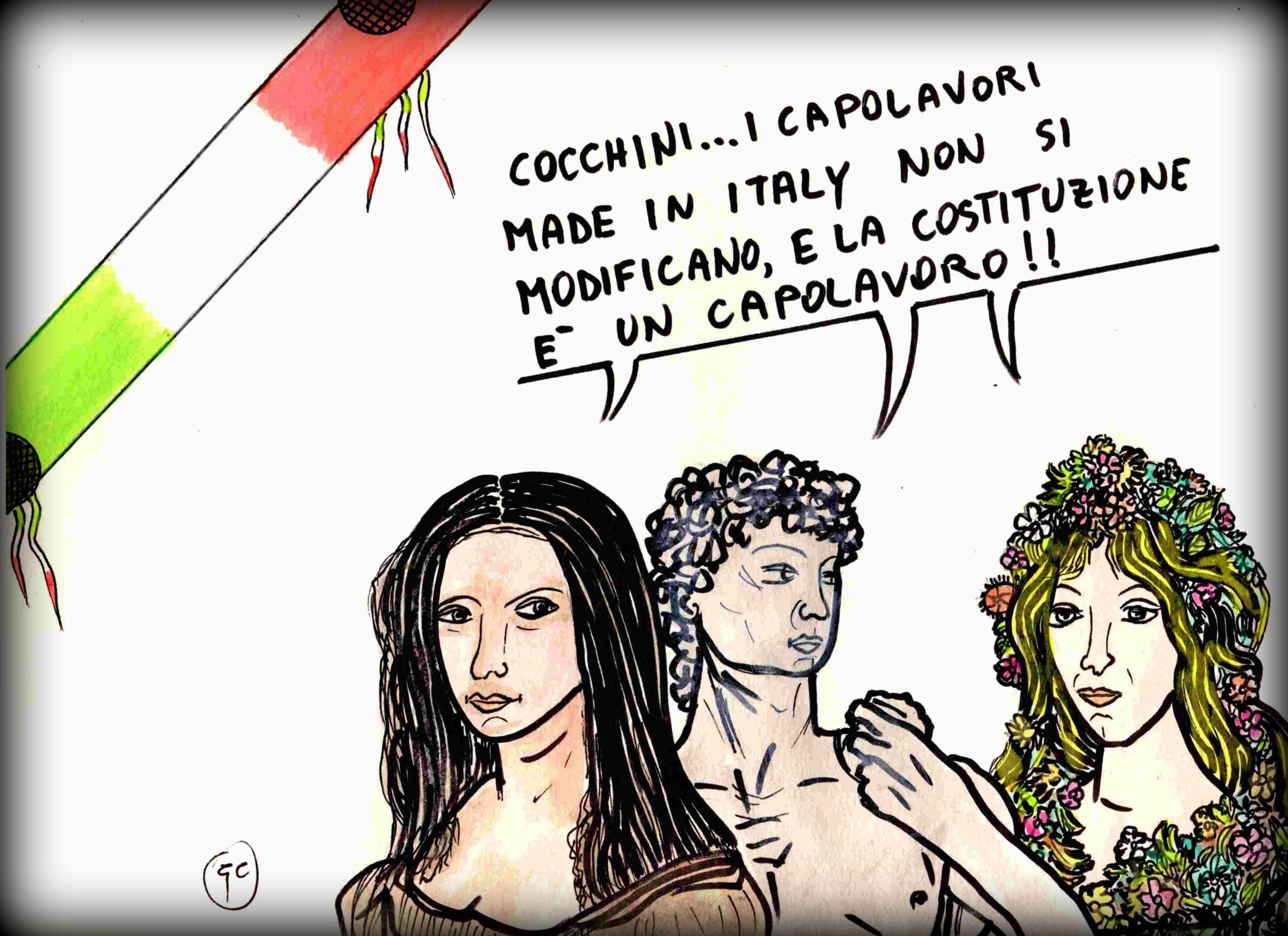 vignetta per il NO al referendum sulle modifiche alla Costituzione pubblicata sul sito vignettistiperilno