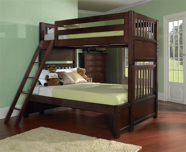 Bridgeport Cherry Twin Full Bunk Bed Rh 2225 730 Fbb Twin Bunk
