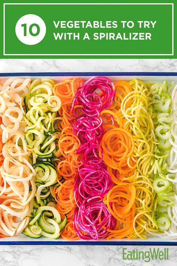 Find the best ideas for making veggie noodles with a spiralizer